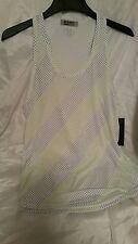2(X)IST Blue & Green Dot Print Tank Medium Men's New T Shirt Athletic Cool NWT