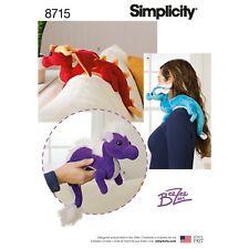 Simplicity 8715   Stuffed Dragons