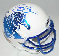 ISAAC BRUCE AUTOGRAPHED SIGNED MEMPHIS TIGERS WHITE MINI HELMET BECKETT
