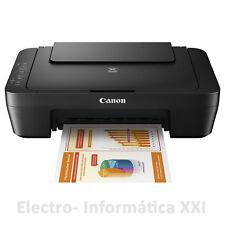 Impresora Color Multifunción Escaner Canon Inyección MG2550s copiadora negro