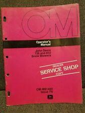 John Deere 726 and 826 Snow Blowers Operators Manual Used OM-M81400 Service Copy