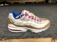 Nike Girls Air Max 95 Le Gs 310830-120 White Gold Pink Running Shoes Size 6.5y