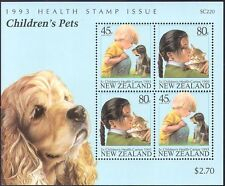 New Zealand 1993 Cats/Dogs/Pets/Animals/Nature/Health Stamps 4v m/s (b3232)