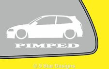 2x PIMPED Mitsubishi Colt Mirage cyborg 5th Silhouette stickerdecal LR338