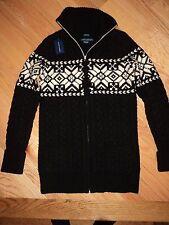 +++nwt $398 Ralph Lauren Blue Label Hand Knit 100% Wool Sweater sz S+++