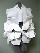 Junya Watanabe Comme des Garcons 3D Folded Neoprene Hexagon Cutout Cape Top S