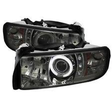 Dodge 94-01 Ram CCFL Smoke Halo LED Projector Headlights Head light Lamp