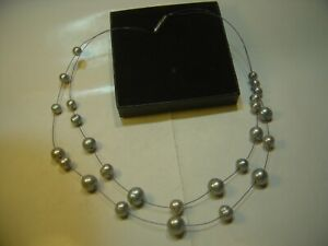 """STUNNING """"HONORA"""" NECKLACE-BEST REAL PEARLS FANCY INTRICATE DESIGN 18""""-STAINLESS"""