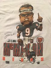 Jim Mcmahon Vintage Chicago Bears Salem Caricature Shirt 80s 90s Great Condition