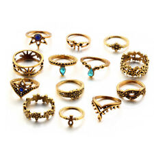 Engagement Party A Set Joint Rings 13Pcs Gold Silver Fashion Women Men Wedding