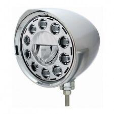 "UNITED PACIFIC 31582 - LED 7"" Chrome ""CHOPPER"" Headlight with Razor Visor"