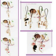 Phone Charms Cute Cat Kitten Hanging Strap For iPhone 11 12 PRO MINI XS SE 2020