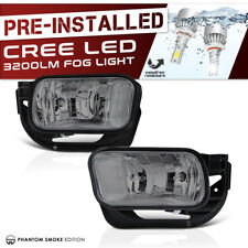 Built-In LED 2009-2016 Dodge Ram 2500 3500 Smoke Fog Light Lamp 09-12 Ram 1500