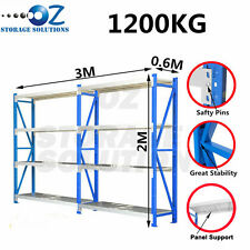 Longspan Shelving Warehouse Racking Garage Storage Shelves 2M x 3M x 0.6M
