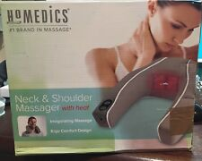 HoMedics NMSQ-210 Neck & Shoulder Massager W/ Heat Ergo comfort design (OB New )