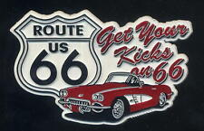 Calamita Fridge Magnet - ROUTE 66 - Get Your Kicks on 66 - from USA - PVC