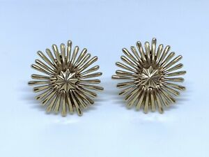 Tiffany & Co 14K Yellow Gold Vintage Starburst Earrings
