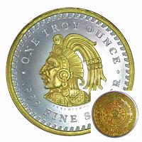 2018 Great Britain 1 oz Silver Britannia BU Coin $2 24K Gold Gilded BOTH SIDES