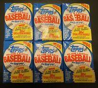 6 - 1986 TOPPS Baseball Wax Packs-15 Cards/Pk 90 Baseball Cards. Unopened packs