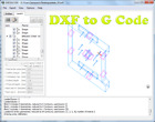 Software for Converting 2D DXF Drawings to CNC Machine G-Code milling