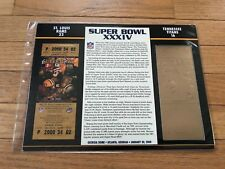 Super Bowl 34 Rams vs. Titans 22kt Gold Ticket Panel - Willabee Ward (NEW)