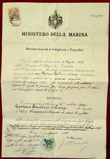 2023-MINISTERO DELLA MARINA, DIREZIONE GENERALE D' ARTIGLIERIA E TORPEDINI, 1886