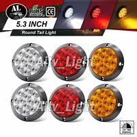 2 Amber 2 Red 2 White 12 LED 4 Inch Round Turn Stop Reverse Truck Tail Light 12V