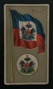 1895 NATIONAL FLAGS AND ARMS AMERICAN TOBACCO CO CIGARETTE CARD HAYTI