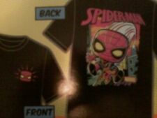 TARGET MARVEL SPIDER-MAN FUNKO POP TEE SHIRT ONLY- MEDIUM FROM COLLECTOR'S BOX