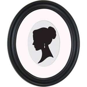 Oval Picture Frames Displayed Horizontally Vertically Satin Black Finish NEW