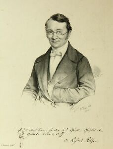 B.WEISS (1810-1875), Porträt des Theologen Dr. Rotha(?),  1854, Lith.
