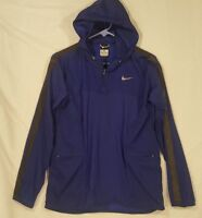 Nike Transparent Woven WOMENS S SMALL RUNNING JACKET BLUE