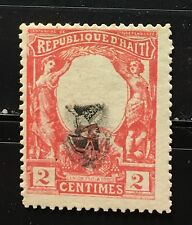 "Haiti 1904 ""black Napoleon"" Toussaint L'ouverture Center Inverted Mng very rare"