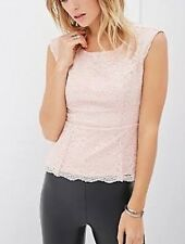 Baby Pink lace Forever 21 Women 's Top Size S RRP$45
