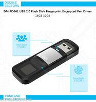 DM PD061 USB 2.0 U Flash Disk 32GB 64GB Fingerprint Encrypted Pen Driver