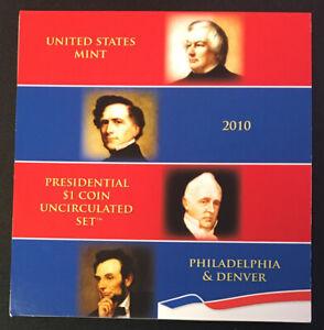 2010 P&D Presidential Dollar 8-Coin Mint Annual Set w/COA