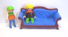 Playmobil Nostalgie Sofa mit Kindern