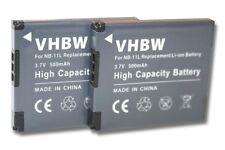 2x BATTERIA NB-11L PER CANON PowerShot A2300,A2400 IS,A2500