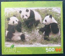 jigsaw puzzle 500 pc Hasbro Guild panda bears babies
