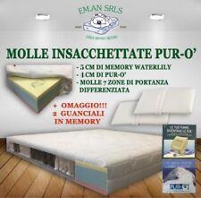 MATERASSO 1600 MOLLE INSACCHETTATE MATRIMONIALE (180x200) MEMORY WATERLILY PURO'