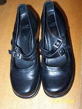 Dansko Brand black Clogs Double Mary Jane Buckle Strap Leather Sz 9 40