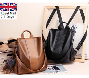 Ladies Women Multi Designed Leather Backpack Shoulder Bag Handbag Tote