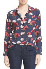 NWT $258  Equipment Slim Signature Floral print Peacoat Multi size: M