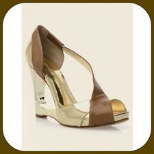 $260 marciano guess gold CARLI color block leather dress  HEELS SHOEs 9.5