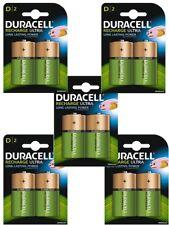 10 X Duracell D Size 3000 mAh batterie ricaricabili NiMH LR20 HR20 DC1300