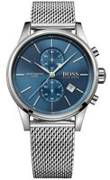 Hugo Boss Jet Blue Men's Watch Analogue Quartz Stainless Steel Silver HB1513441
