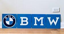 "Amazing 40"" 4 Piece BMW Old Logo German Racing Vintage Reproduction Garage Sign"