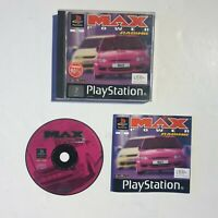 MAX POWER RACING / PAL PlayStation 1 PS1 with manual & free uk postage