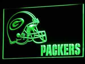 New NFL Football Green Bay Packers LED Neon Light Signs Bar Man Cave 7 colors