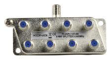Konig 8 voie câble ou antenne tv splitter tnt uhf avec 10 f type plugs